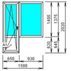 Малогабаритный балконный блок откидной
