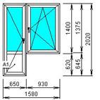 Малогабаритный балконный блок распашной